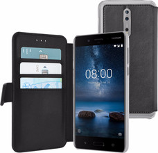 Azuri Wallet Magneet Nokia 8 Book Case Zwart