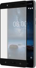 Azuri Nokia 8 Screenprotector Curved Gehard Glas Duo Zwart