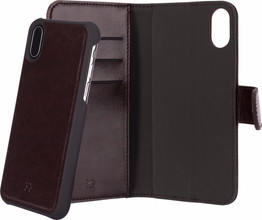 Xqisit Wallet Eman iPhone X Book Case Bruin