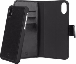 Xqisit Wallet Eman iPhone X Book Case Zwart