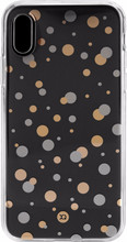 XQISIT Shell iPhone X Back Cover Dots Rose Goud/Zilver