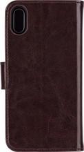 Xqisit Wallet Eman iPhone X Book Case Bruin