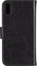 Xqisit Wallet Eman iPhone X Book Case Zwart