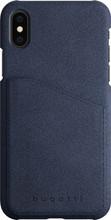 Bugatti Londra Ultrasuede iPhone X Back Cover Blauw