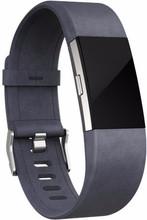 Fitbit Charge 2 Lederen Horlogeband Grijs Large