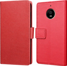 Just in Case Wallet Moto E4 Plus Book Case Rood
