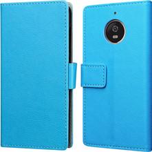 Just in Case Wallet Moto E4 Book Case Blauw
