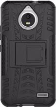 Just in Case Rugged Hybrid Moto E4 Back Cover Zwart