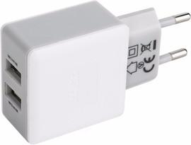 Xqisit Thuislader 2x USB 2,4Ah Wit