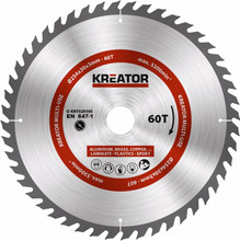 Kreator Zaagblad 254x30x3mm 60T