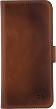 Senza Desire Leather Wallet Galaxy S8 Book Case Bruin
