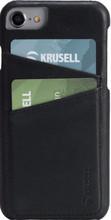 Krusell Sunne 2 Card iPhone 8 Back Cover Zwart