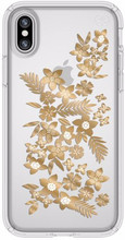 Speck Presidio Shimmer Floral iPhone X Back Cover Transparan