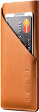 Mujjo Leather Wallet Sleeve iPhone X Pouch Bruin