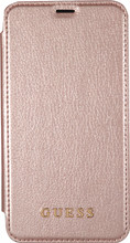 Guess Iridescent iPhone X Book Case Rose Gold