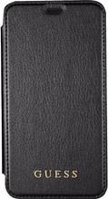 Guess Iridescent iPhone X Book Case Zwart