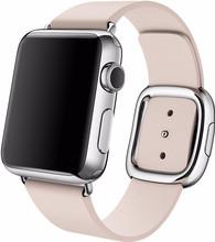 Apple Watch 38mm Modern Lederen Horlogeband Roze Medium