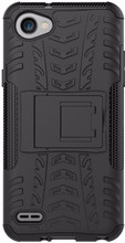 Just in Case Rugged Hybrid LG Q6 Back Cover Zwart