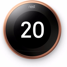 Nest Learning Thermostat V3 Premium Koper met installatie