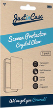 Just in Case Wiko View Screenprotector Plastic Triple Pack