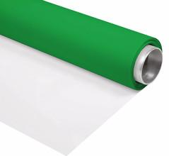 Bresser Vinyl Groen/Wit Mat 2x4m Rol Achtergrond
