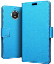 Just in Case Wallet Moto G5S Plus Book Case Blauw