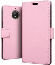 Just in Case Wallet Moto G5S Plus Book Case Roze