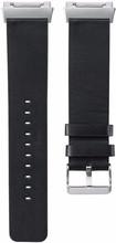 Just in Case Fitbit Ionic Lederen Horlogeband Zwart