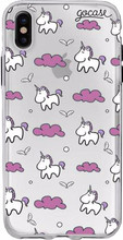 GoCase TPU Apple iPhone X Back Cover Pink Unicorns