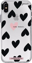 GoCase TPU Apple iPhone X Back Cover Black Hearts
