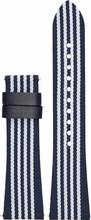 Emporio Armani 22mm Nylon Horlogeband Blauw/Wit