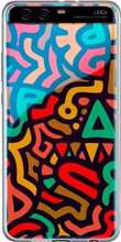 Huawei P10 TPU Back Cover Doodle Pattern