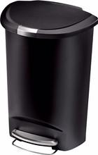 Simplehuman Semi-round 50 Liter Zwart