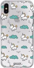 GoCase TPU iPhone X Back Cover Unicorns