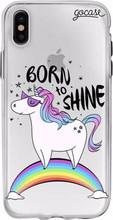 GoCase TPU iPhone X Back Cover Born to Shine