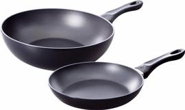 BK Easy Basic Koekenpan en Wok 24 + 28 cm