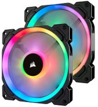 Corsair LL140 RGB Dual Light Loop Twin Pack + Lighting Node