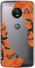 Casetastic Softcover Motorola Moto G5 Orange Autumn Flowers