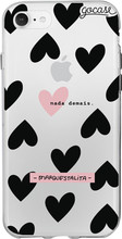 GoCase TPU iPhone 7/8 Back Cover Black Hearts