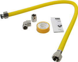 Scanpart gasslang 80cm RVS (stug)