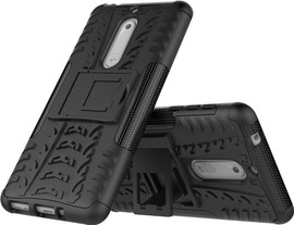 Just in Case Rugged Hybrid Nokia 5 Back Cover Zwart