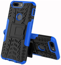 Just in Case Rugged Hybrid OnePlus 5T Back Cover Blauw
