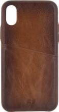 Senza Desire Leather Apple iPhone X Book Case Bruin