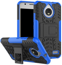 Just in Case Rugged Hybrid Moto E4 Back Cover Blauw