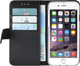 Azuri Wallet Magneet Apple iPhone 6/6s Book Case Zwart
