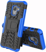 Just in Case Rugged Hybrid A8 2018 Back Cover Blauw