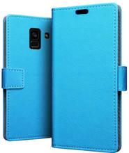 Just in Case Wallet Galaxy A8 2018 Book Case Blauw
