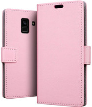 Just in Case Wallet Galaxy A8 2018 Book Case Roze