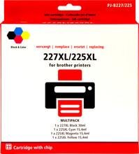 Huismerk LC-227XL 4-Kleuren Pack voor Brother (LC-227XLVAL)