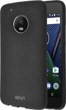 Azuri Flexible Sand Motorola Moto G5 Plus Back Cover Zwart